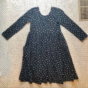 NWOT HANNA ANDERSSON SIZE 130 black w/ white dots